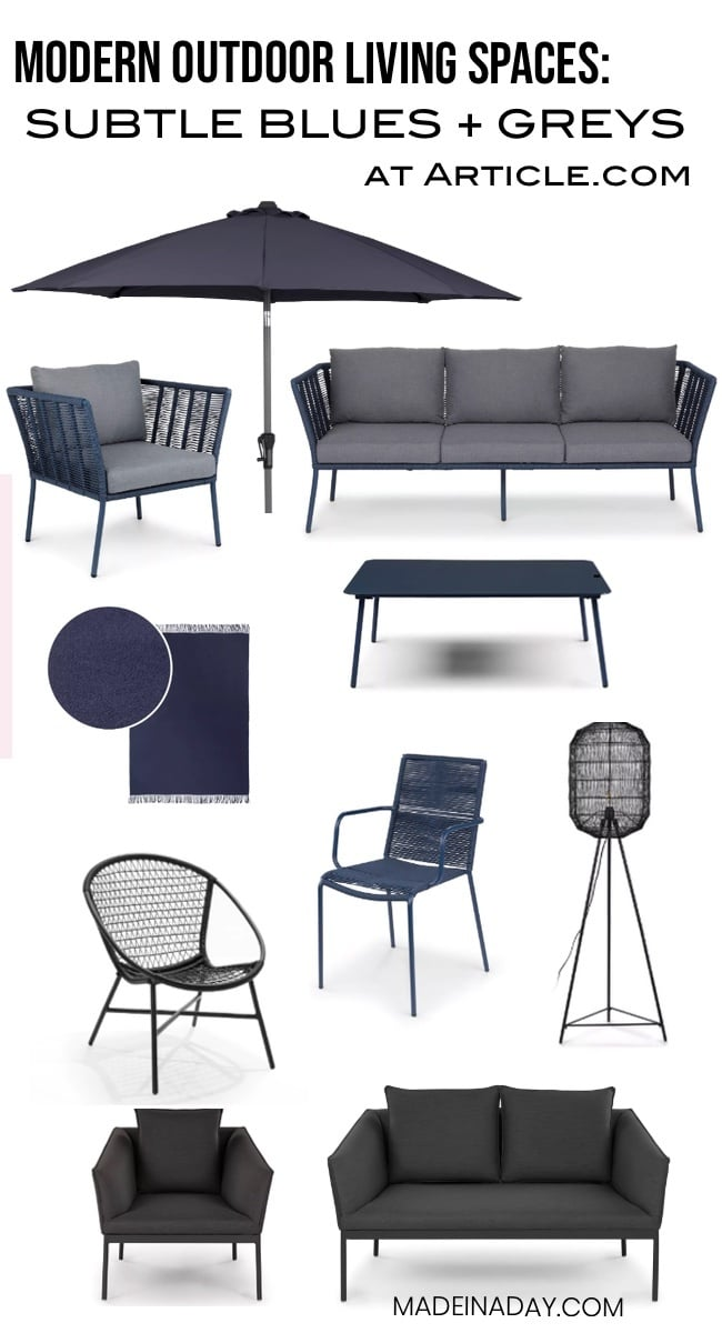 Blue Grey Patio Furniture Roundup