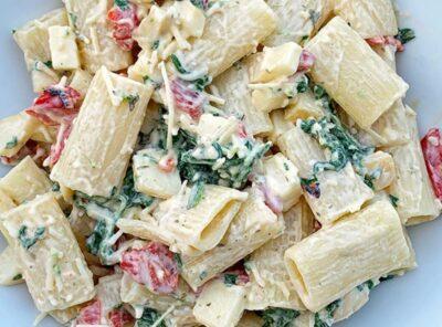 Spinach Smoked Mozzarella Pasta Salad Recipe