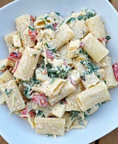 Spinach Smoked Mozzarella Pasta Salad Recipe 31