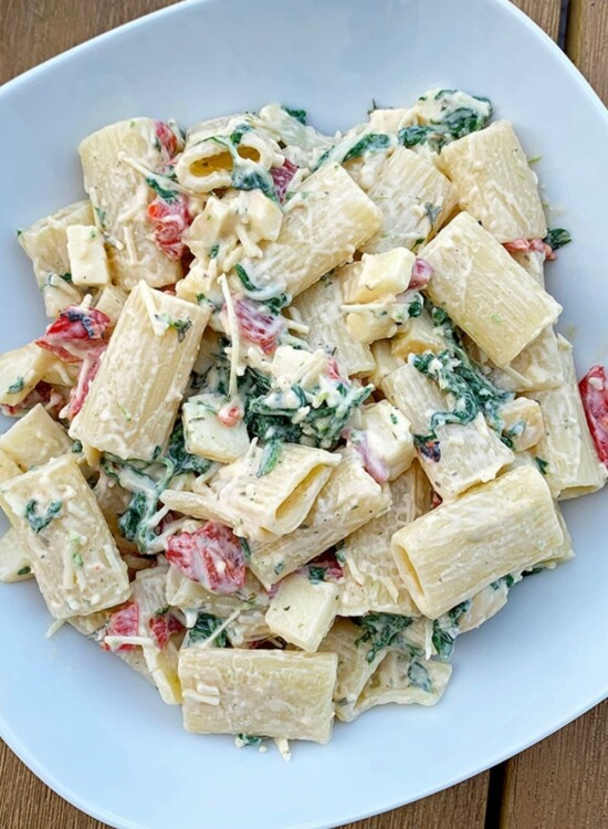 Spinach Smoked Mozzarella Pasta Salad Recipe 3