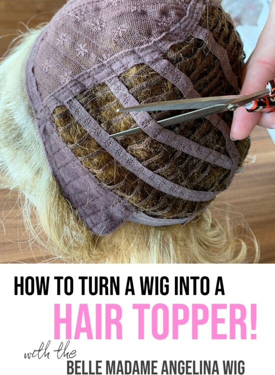How To Turn a Lace Front Wig into a Hair Topper 36