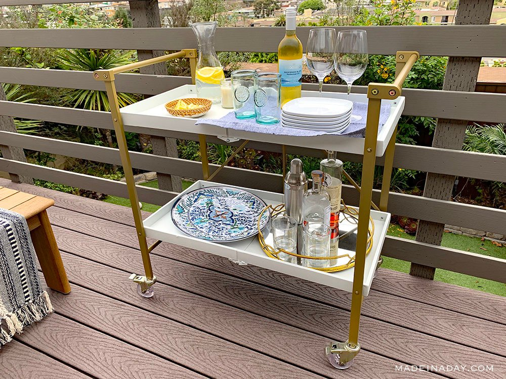 bar cart styling for summer