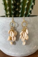 DIY Dangle Cowrie Shell Earrings 29