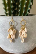 DIY Dangle Cowrie Shell Earrings 14