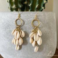 DIY Cowrie Shell Earrings