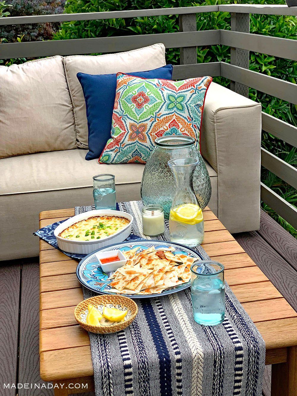 outdoor entertaining, backyard entertaining, summer entertaining,