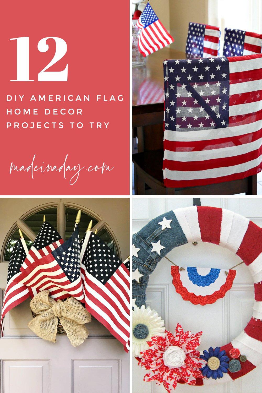 The Best DIY American Flag Room Decor