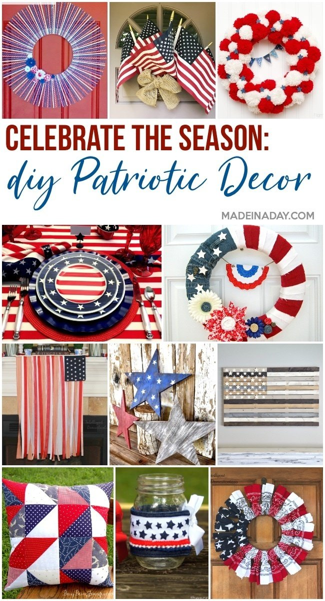 patriotic home decor, DIY 4th of July Home decor
