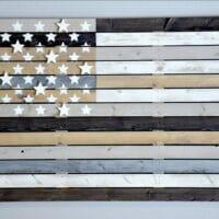 DIY Weathered Wood American Flag