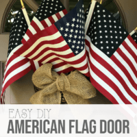 Easy American Flag Door Decor