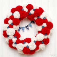 Patriotic Pom Pom Wreath -