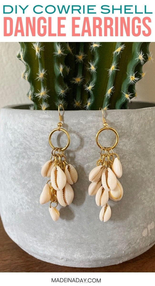 How to make Cowrie Shell earings
