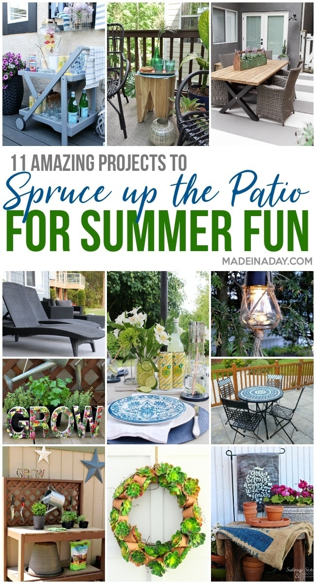 11 patio projects for summer, summer patio, backyard makeover