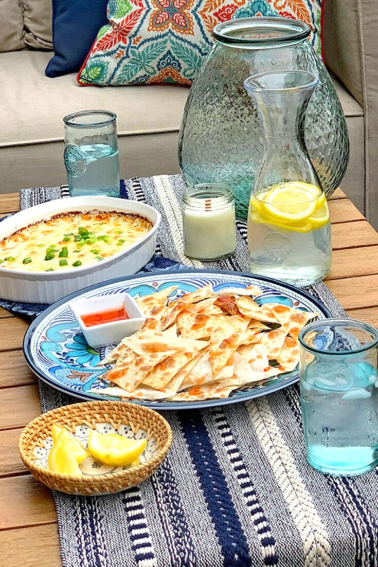 Crab Rangoon Dip + Summer Entertaining Inspiration