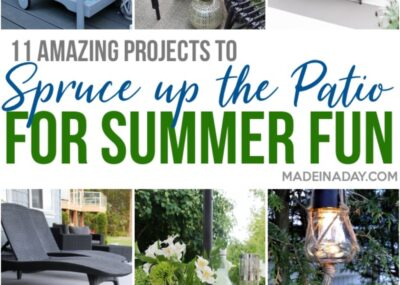 Amazing DIY Patio Projects for Summer Entertaining 26