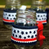 Patriotic Mason Jar Cozies - The Scrap Shoppe