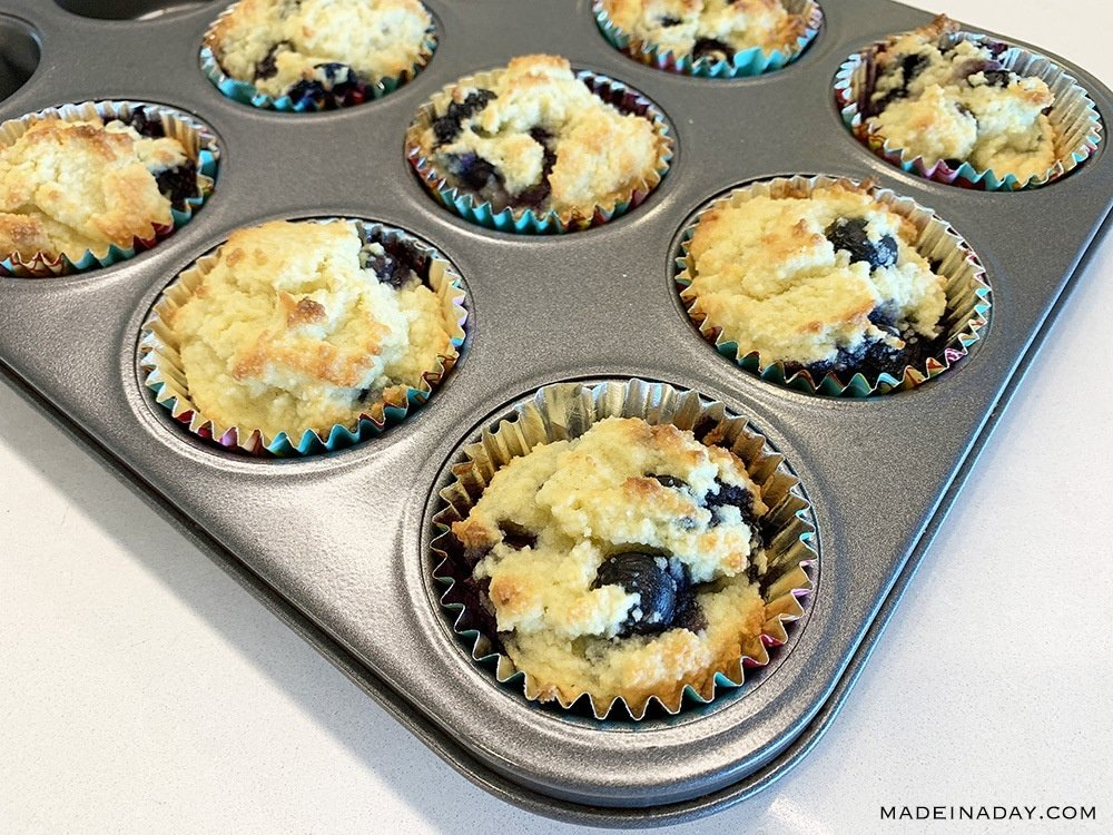Perfect Low Carb Blueberry Muffins 2