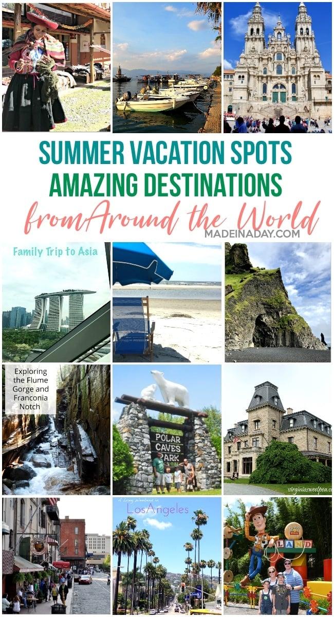 Summer Vacations around the world destinations
