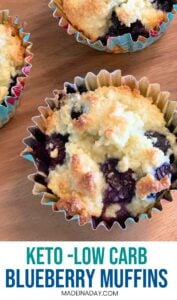 Perfect Low Carb Blueberry Muffins 1
