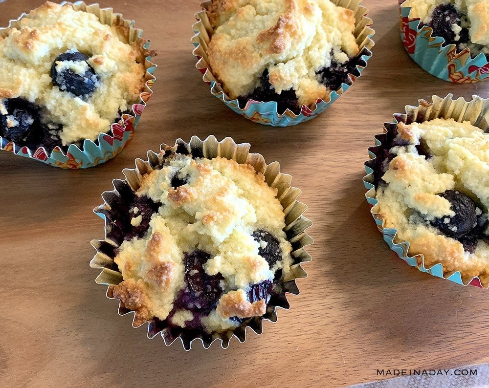 Low carb blueberry muffins, bakery style keto muffin,
