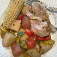 Zucchini Red Potatoes and Drumsticks Foil Pack Dinner