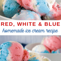 Red White and Blue Ice Cream Perfect for the Fourth Of July!