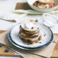 Fluffy Greek Yogurt Pancakes (With Blueberries)