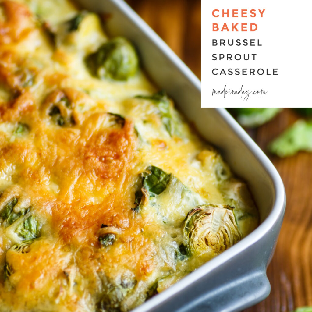 Dreamy Cheesy Baked Brussels Sprouts Casserole
