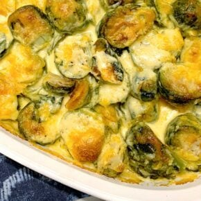 Dreamy Creamy Baked Cheesy Brussels Sprouts 1