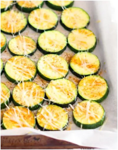 Simple Oven Roasted Zucchini