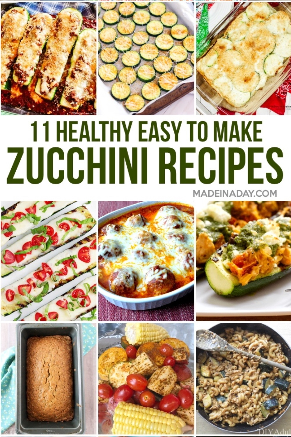 12 Healthy Zucchini Squash Recipes