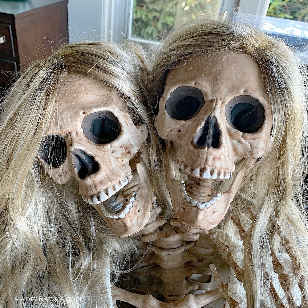 Mesmerizing Two Headed Skeleton Halloween Decor 13