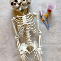 How to Age a Skeleton Prop