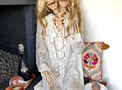 Mesmerizing Two Headed Skeleton Halloween Decor