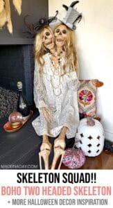 Mesmerizing Two Headed Skeleton Halloween Decor 1