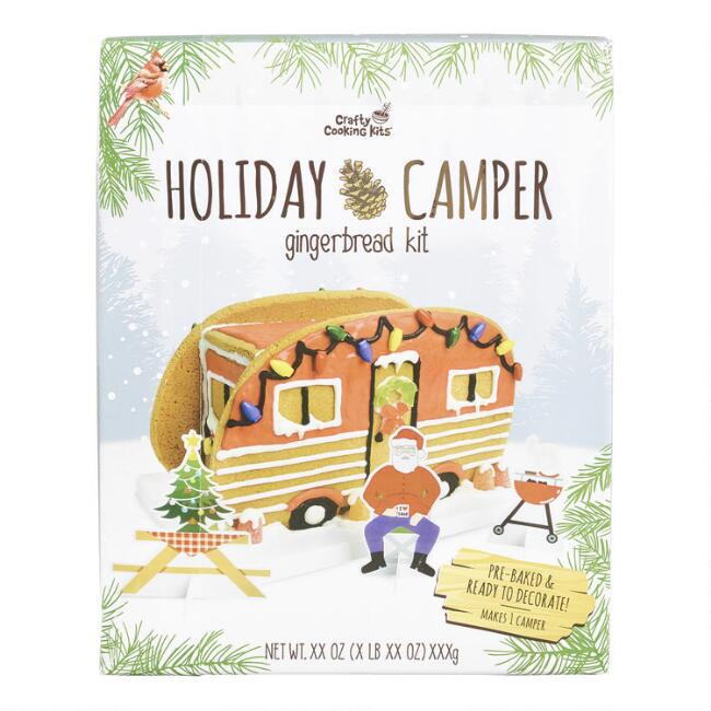 holiday camper gingerbread house kit,