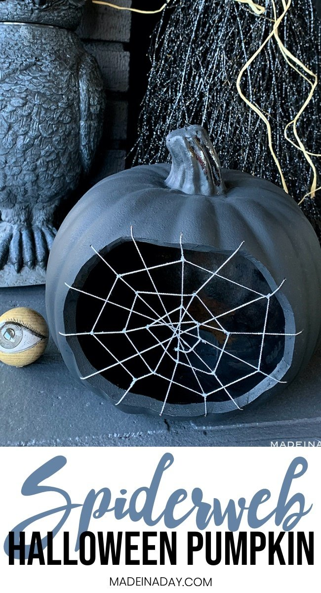 spiderweb pumpkin, spider web pumpkin, cobweb pumpkin, black pumpkin