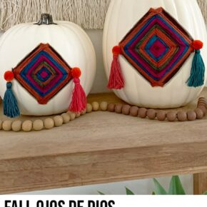 Colorful Fall Gods Eye Pumpkins 1