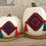 Stunning Shimmering Boho Pumpkin Luminaries 5