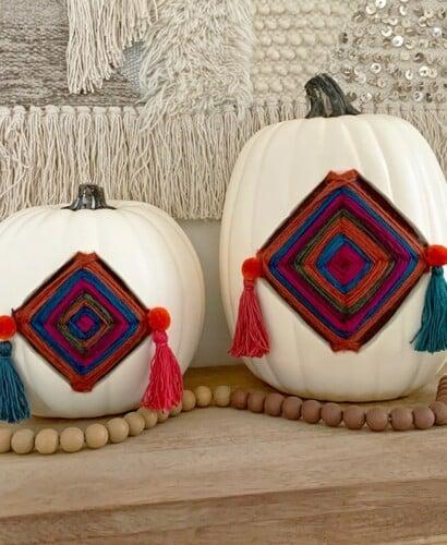 Colorful Fall Gods Eye Pumpkins 10