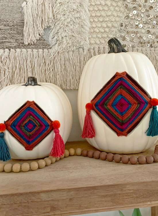 Colorful Fall Gods Eye Pumpkins 5