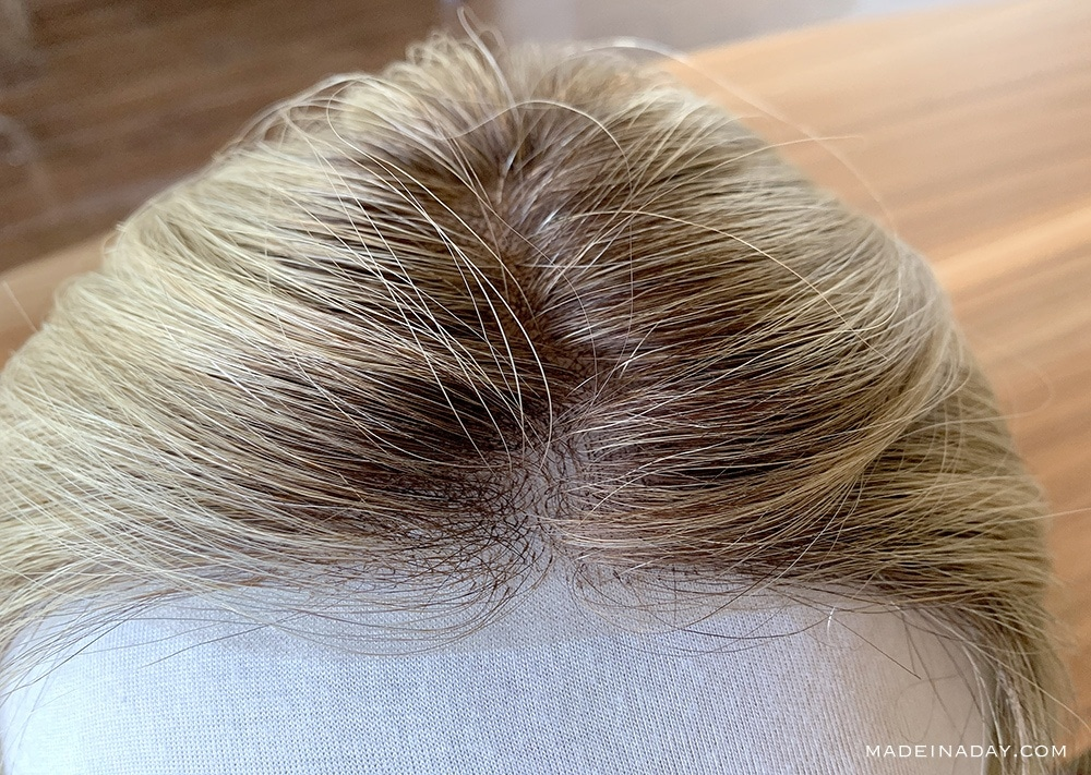 SmartLace™ Lace Front Human Hair Topper, Top Smart lace front, rooted blonde topper