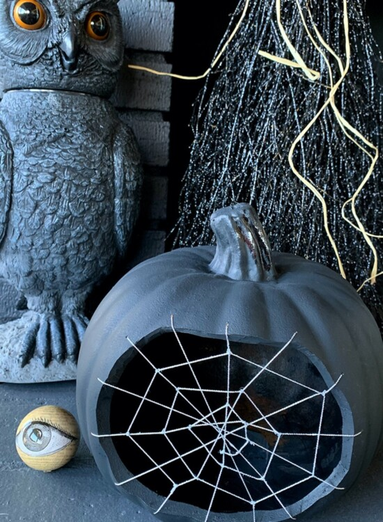 Spine Tingling Spiderweb Pumpkin 2