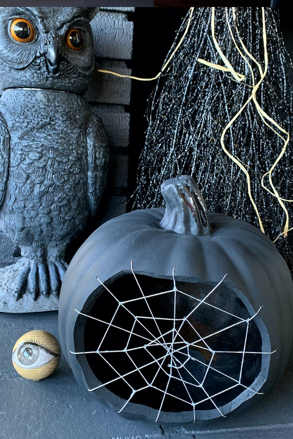 Spine Tingling Spider Web Pumpkin