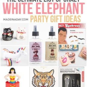The Ultimate List Of White Elephant Gift Ideas Made In A Day