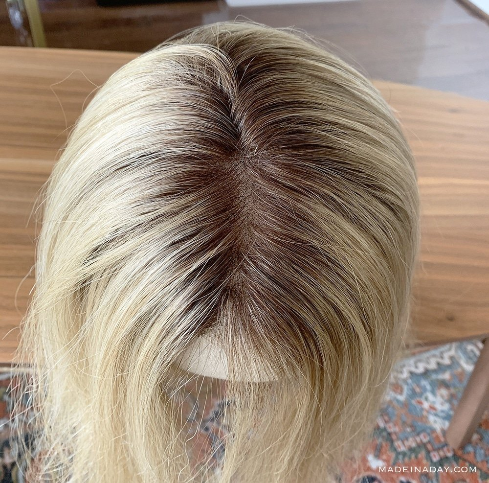 Top Smart 18 inch rooted Venice Blonde Jon Renau, Human hair topper, lace front topper