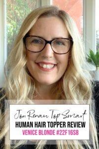 "Jon Renau Human Hair Top Smart 18"" Color: Venice Blonde 1"