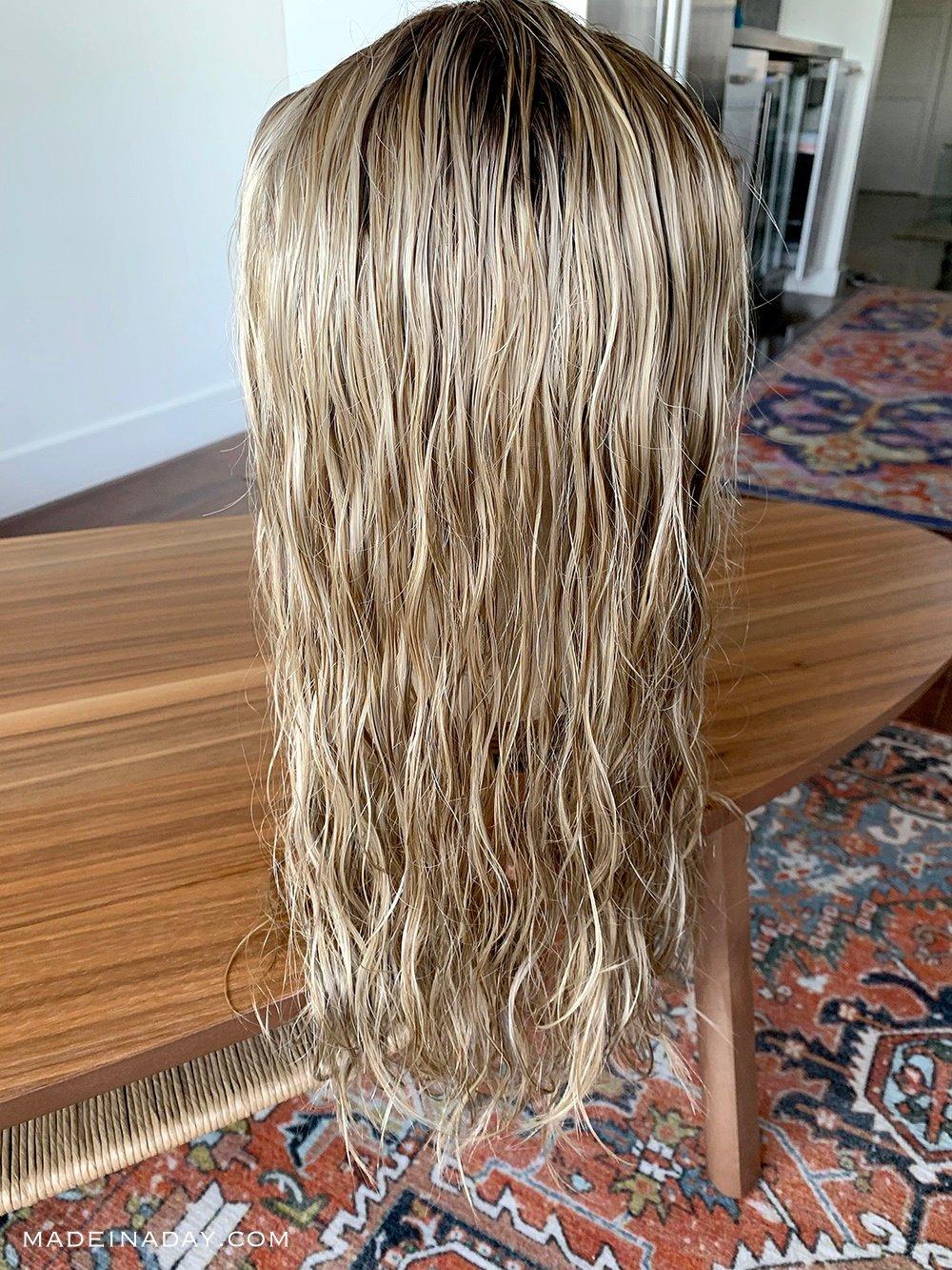 Tops Smart Human Hair Topper wet Beach waves,