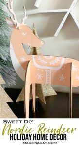 Charming Nordic Reindeer Holiday Decor 1