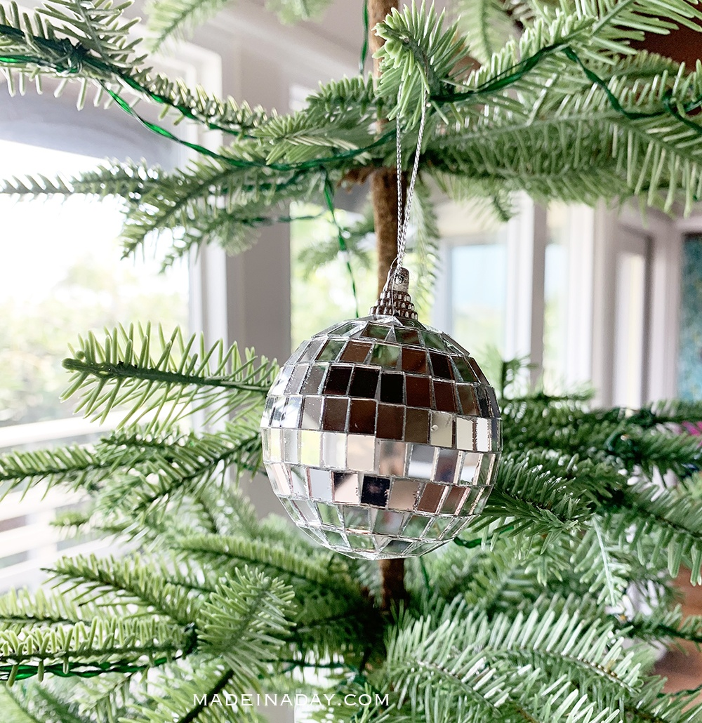 mirror ball ornament, disco ball ornament